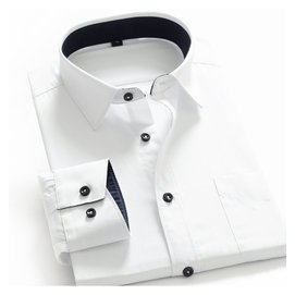 秋裝雅戈爾正品純棉長袖襯衫男士免燙 大碼襯衣商務正裝男襯衫