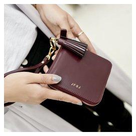 女士短款錢包2015 日 復古流蘇拉鏈卡位錢夾牛皮手拿包皮夾