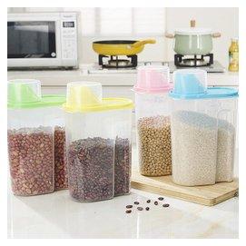 3個裝 透明 密封罐子豆類五谷雜糧罐 塑料瓶儲物罐收納罐有蓋2.5L