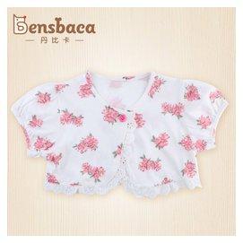 2015披肩春夏寶寶坎肩女童披風小童純棉短袖薄外套嬰兒防曬開衫