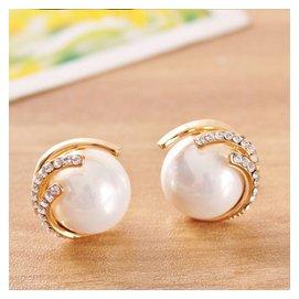 日 飾品925純銀耳針耳環高 貝殼珍珠耳釘