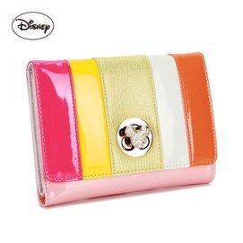 1迪士尼Disney米奇 女款錢包 糖果色短款女士銀包AP2209~05 粉色