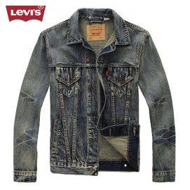 Levi's李维斯秋冬款牛仔外套男修身潮男士牛仔夹克男装牛仔服上衣