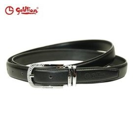 1金利來 皮帶 女士 針扣腰帶 針扣皮帶BGBF7104~31 黑色