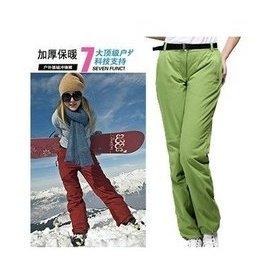 德國 技術戶外單正品 男女款 加厚防水夾棉保暖衝鋒褲滑雪褲