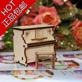 鋼琴模型木質手搖音樂盒八音盒生日快樂 送女生定制送兒童