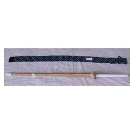 濟武:有背帶菖蒲染單入竹刀袋^(藍色^) 單把^(32或34或36號 ^)仕組竹劍^(有附