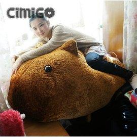 生日 送女友 無法形容的田鼠超大公仔 可愛水豚君毛絨玩具 カピバラさ 萌情人節