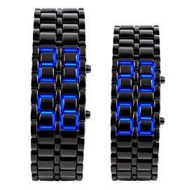 時刻美防水LED對表  熔岩情侶手表電子表女士 學生男表