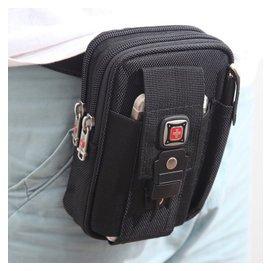 男士腰包可穿皮帶5.5寸三星手機包零錢包掛包多 男包