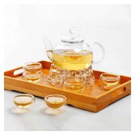 暢銷 環保 衛生 幹凈玻璃茶具 玻璃茶具套裝整套耐熱過濾功夫花茶壺花草茶杯茶盤