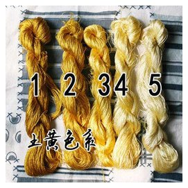 蘇繡 刺繡DIY材料 純真絲線繡花線100^%蠶絲線蠶絲線 繡線 土黃
