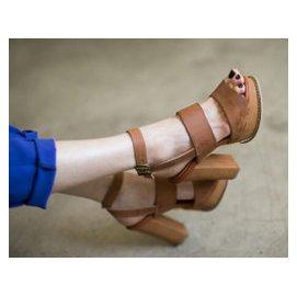 英倫複古 範韓國 正品女鞋2015新夏款粗跟魚嘴高跟涼鞋女鞋 日系
