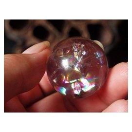 天然紫水晶球擺件 淺紫水晶球 七彩彩虹球 轉運珠 彩虹水晶球擺件