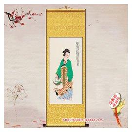 魚籃觀音 觀世音菩薩卷軸掛畫 裝裱畫像佛像畫軸開光多尺寸佛畫