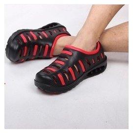 包郵 涼鞋男潮鳥巢洞洞鞋男士花園鞋防滑外貿透氣沙灘鞋大碼