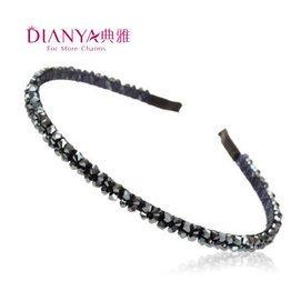 典雅發飾水珠細發箍盤發發卡 頭飾品前夾壓發頭箍124 韓國粉