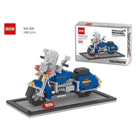 DR.STAR 積木 鑽石積木 摩托車 哈雷 重機 川崎 7~11模型車^(藍色 區^)