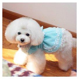 ~零一刻度~ 37640463179 DBB絨布蕾絲裙 狗狗衣服 寵物春夏裝狗狗寵物衣服泰