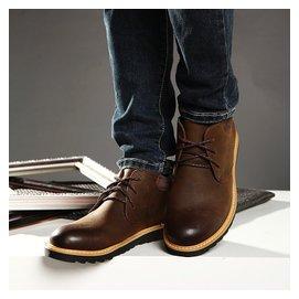 鼕季英倫馬丁靴男真皮皮靴子加絨保暖棉靴潮流高幫鞋男士復古短靴