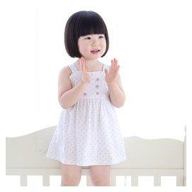 恩恩熊女童夏裝裙子純棉寶寶連衣裙百搭嬰兒吊帶裙公主裙80086