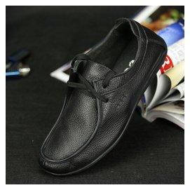 ecco愛步男鞋 鞋 專櫃正品 真皮男士皮鞋 軟牛皮皮鞋