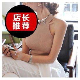 shes~story 2014正品女裝 修身簡約掛脖背心弔帶 夏新特