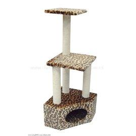 ~Little Catty~寵物甜心中大型三層五角山洞貓跳台貓爬架睡窩貓抓遊戲台PW~13
