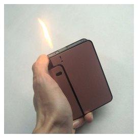全國女男士煙盒打火機超薄 輕按自動金屬95菸盒子正品煙具