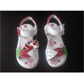 ~~小天使 童鞋~~美國品牌真皮系列 珍藏版精美落葉款兒童涼鞋25~32號