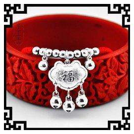 925純銀飾品定制紅繩蛇皮繩手鏈腳鏈寶寶男女款轉運光珠福鈴鐺鎖