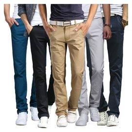 男士 褲子 直筒長褲青年潮男裝薄款修身純棉夏裝男褲