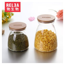 物生物 透明玻璃罐 奶粉茶葉干果食品泡酒收納瓶密封罐儲物罐