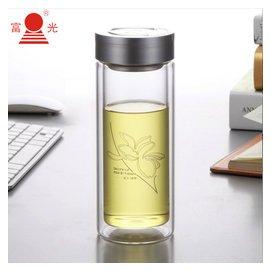富光杯 雙層玻璃杯 透明帶蓋過濾網泡茶杯 男女士水杯子700~500ml