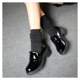 2015 春秋英倫復古中跟女單鞋學生鞋粗跟圓頭cos小皮鞋潮女鞋