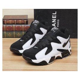 黑白螃蟹 鞋跑步 氣墊男鞋韓國增高女鞋奶牛情侶籃球鞋