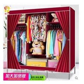 ^(DN^)衣櫃簡易 布衣櫃加大加寬加固折疊鋼架大容量多掛防潮布藝衣櫥