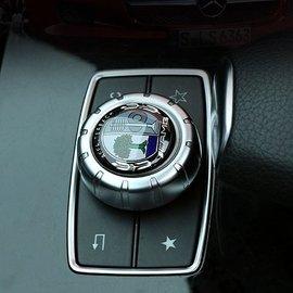 賓士Benz GLA旋鈕多媒體按鈕立體貼紙 A B C E CLA GLA 標誌隨意貼 內