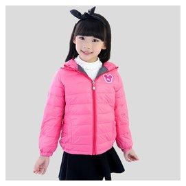 2015冬裝 男童女童兒童羽絨服 連帽外套正品90^%白鴨絨
