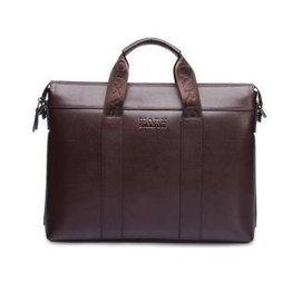 2015 男士商務手提包牛皮公文包真皮橫款男包單肩包斜 包背包