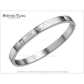 ~KB615~西德鋼飾~寵愛時光~細版銀色手環 單個 送單面刻字 送禮
