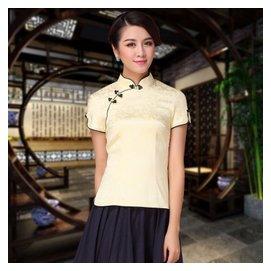 漢服改良旗袍上衣短袖日常唐裝女士夏裝中國風民族風中式女裝