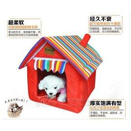四季 可拆洗 狗窩貓窩狗房子泰迪貴賓寵物用品狗窩 墊子歐式別墅 豪華寵物屋 寵物籠 狗籠