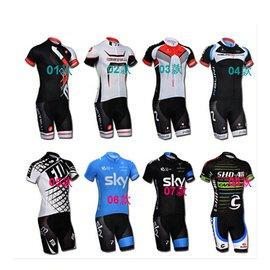 環法車隊男女短袖車衣 自行車服 單車服 騎行服 短上衣 吸濕排汗透氣 2014環法車隊版