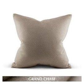 彩虹騎士高端優品 高含量羊毛絨淺駝色 雙層沙發床靠枕靠墊抱枕套