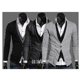 新品 MRPK 多 假兩件 針織衫長袖男士開衫