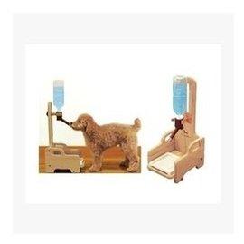 多格漫木質立式寵物飲水 狗狗寵物飲水器