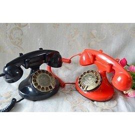 D店)  高端塑膠旋轉撥號盤 復古電話機 仿古電話機.