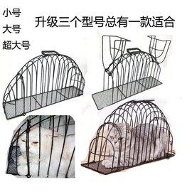 D店) 貓洗澡籠 寵物洗貓籠子 貓咪吹風籠打針防抓咬 絕育靜養加加強版 送毛刷.