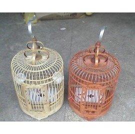 鳥籠 畫眉鳥籠鳥竹籠 珊瑚鳥 竹制鳥竹籠八哥鳥籠子全套裝